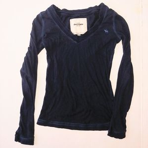 Abercrombie & Fitch Navy Long-sleeve Shirt l